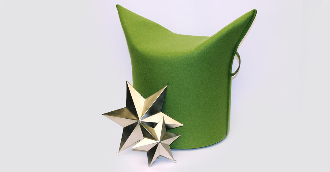 Adventskalender mit Geschenketipps: Den Hocker Zipfel von Werther und die Sterne Sitara von Lambert gibt es bei Hans G. Bock.
